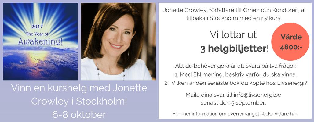Vinn en kurshelg med Jonette Crowley i Stockholm! (1)