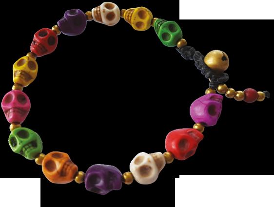 Armband Rainbow skull - Livsenergi 5847d3a1eddf0